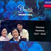 Chung Trio / Dvorak: Paino Trios No.1, 3 2Lp GF - 안쪽에  정경화/정명화 양인의 친필 싸인